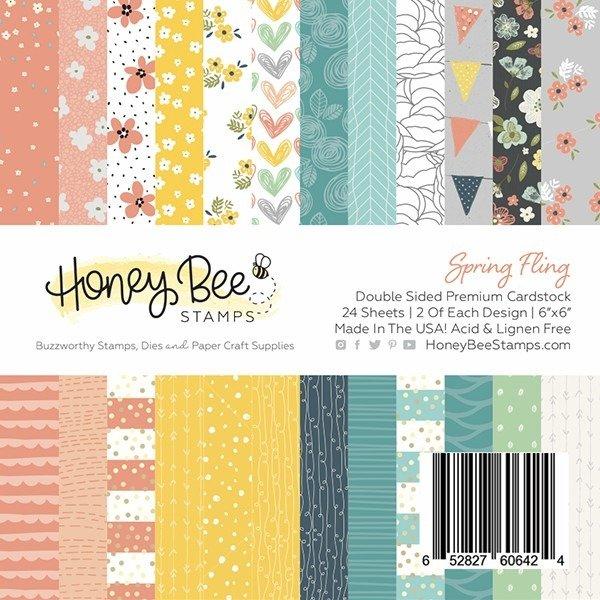 Honey Bee Stamps 6x6 Paper Pad-Spring Fling