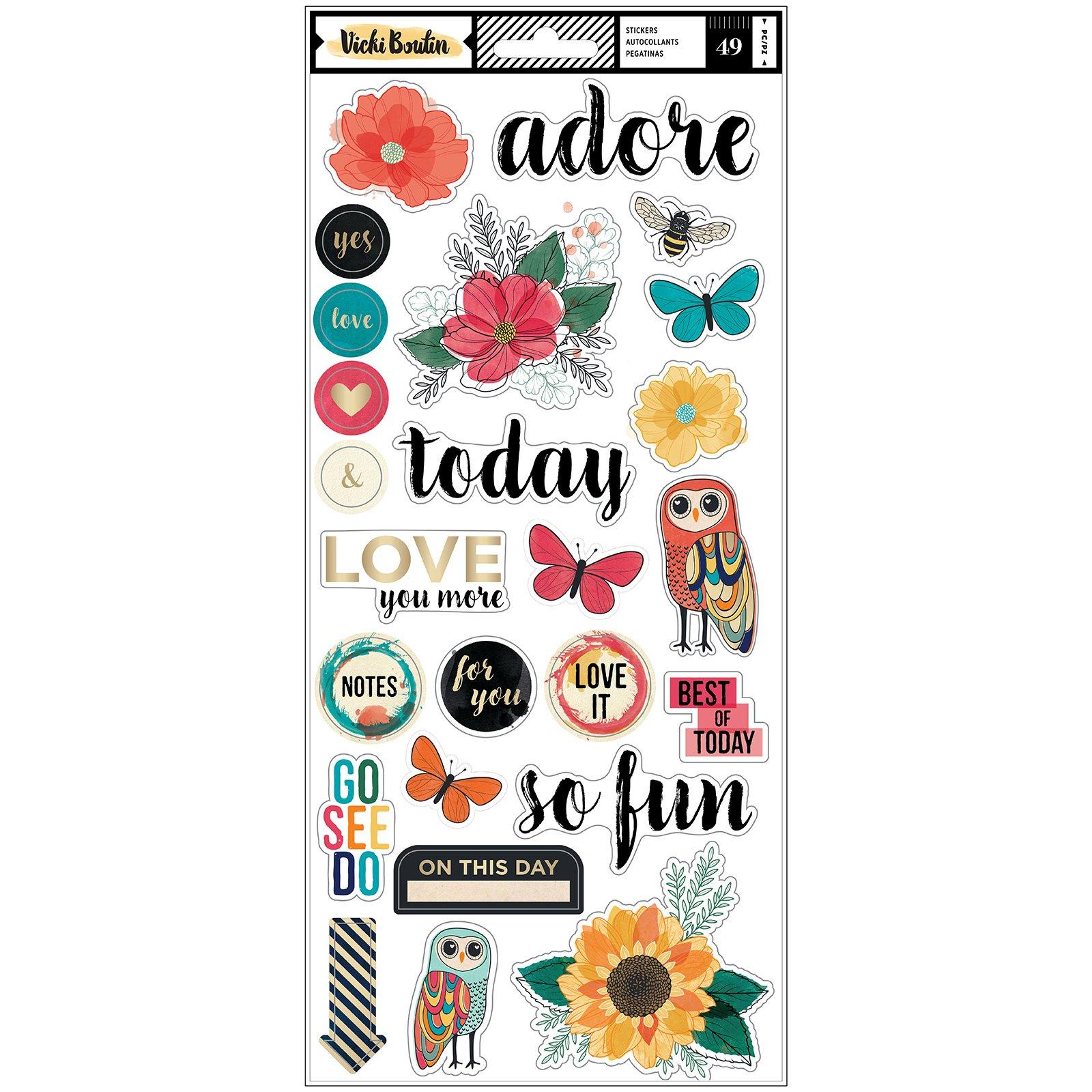 Vicki Boutin Wildflower & Honey-6x12 Stickers