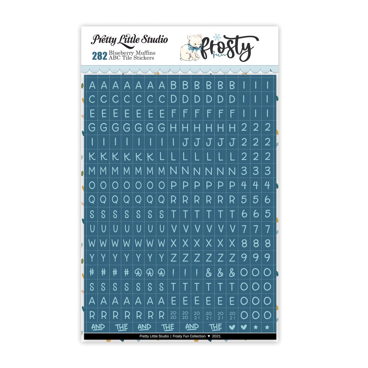 Frosty ABC Tile Stickers-Blueberry Muffins