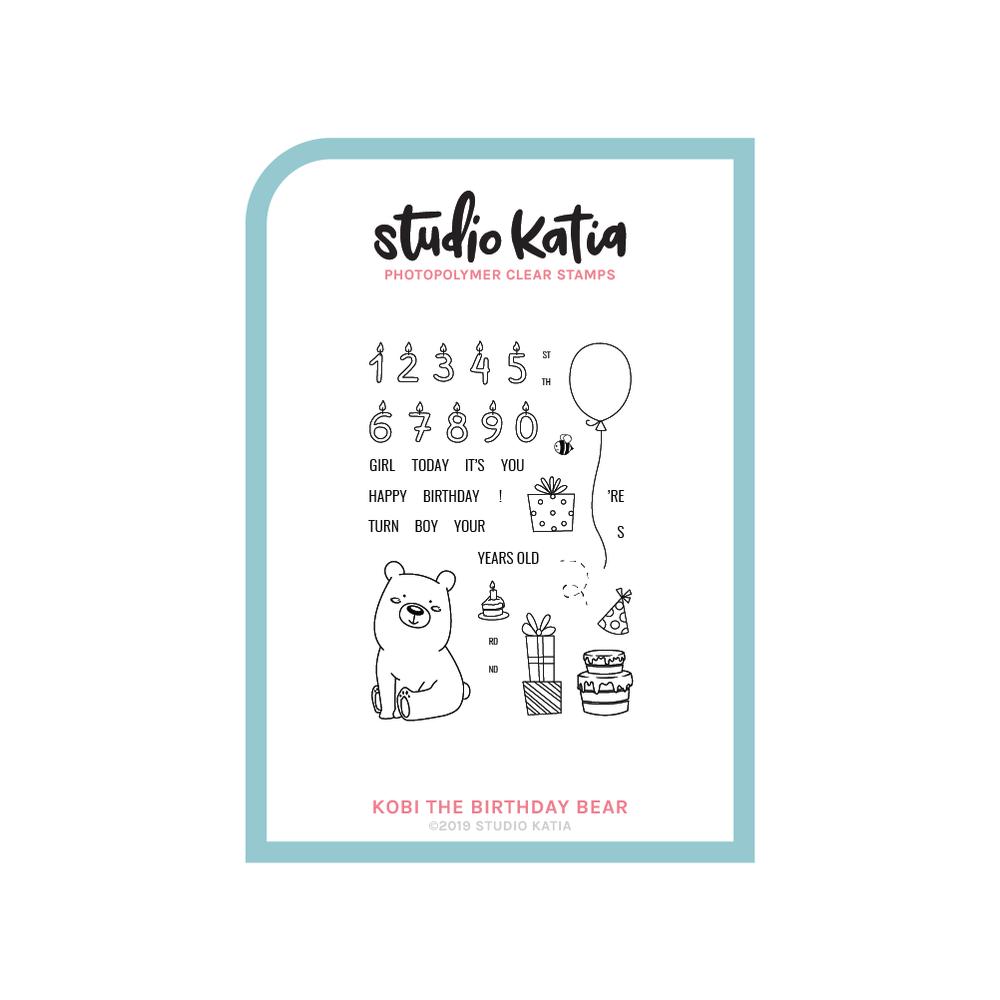 Studio Katia-Kobi The Birthday Bear Stamp