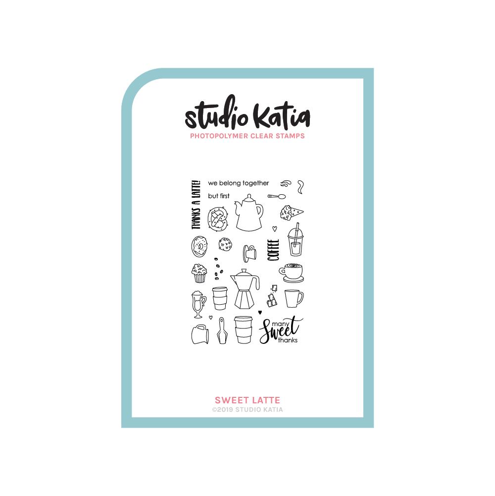 Studio Katia-Sweet Latte Stamp & Die Bundle