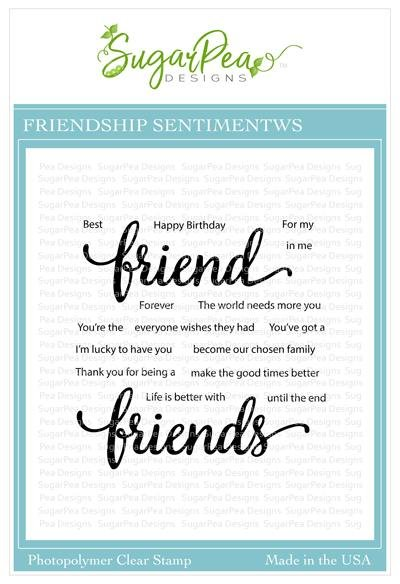 SugarPea Designs-Friendship Sentiments Stamp