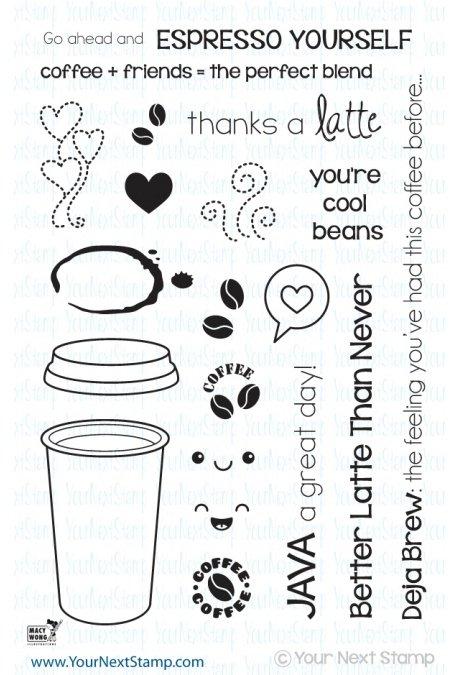 Your Next Stamp-Thanks A Latte Stamp & Die Bundle