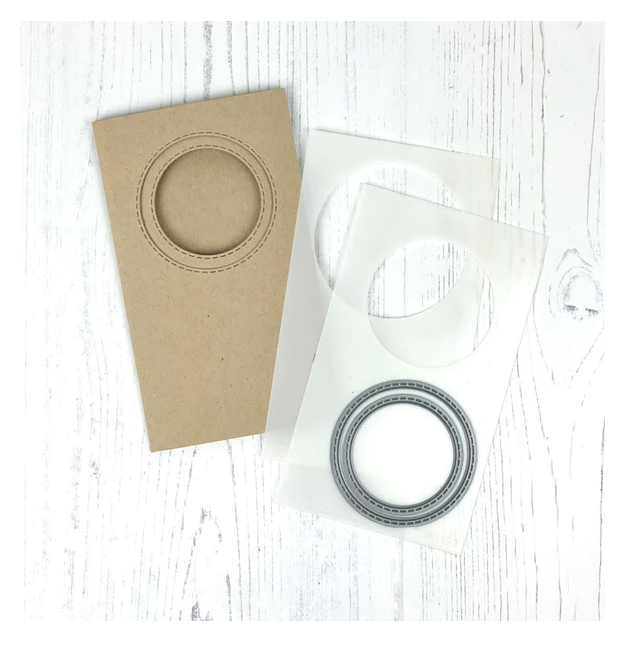 Taylored Expressions-Mini Slim Trifold Template & Dies Circle