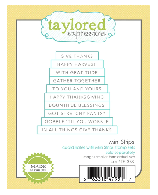 Taylored Expressions-Mini Strips Die