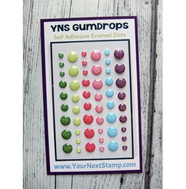 Your Next Stamp Enamel Dots-Watermelon Party Glitter