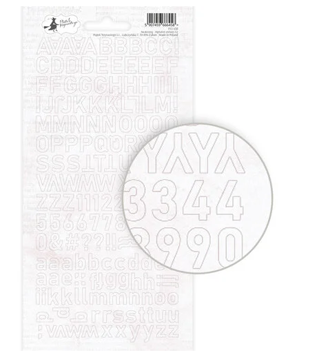 Awakening Alphabet Stickers-White