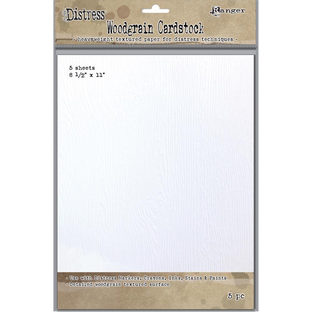 Tim Holtz-Woodgrain Watercolor Paper 8.5x11