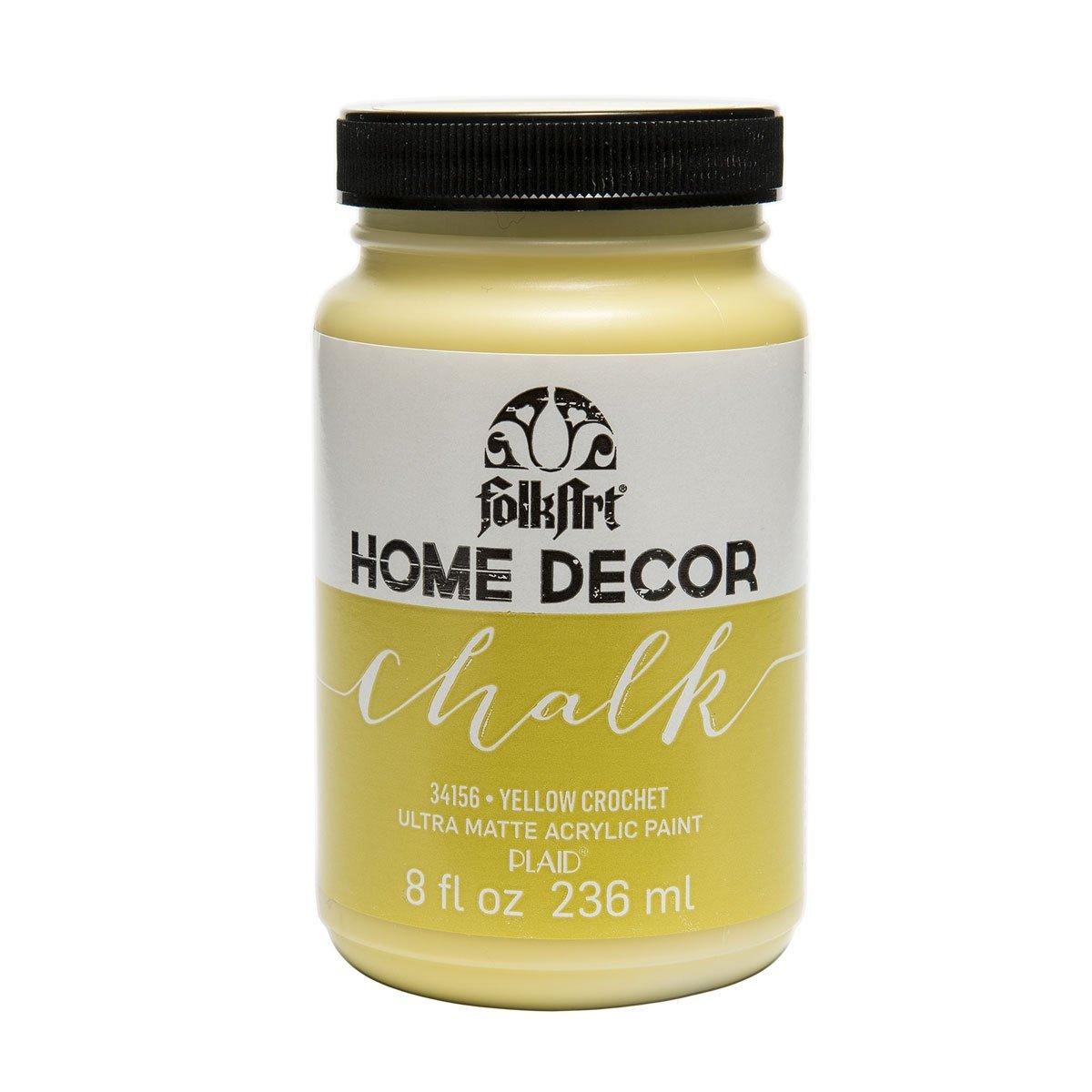 FolkArt Chalk Paint-Yellow Crochet
