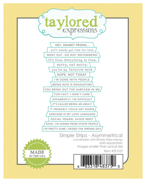 Taylored Expressions-Simple Strips Asymmetrical Die
