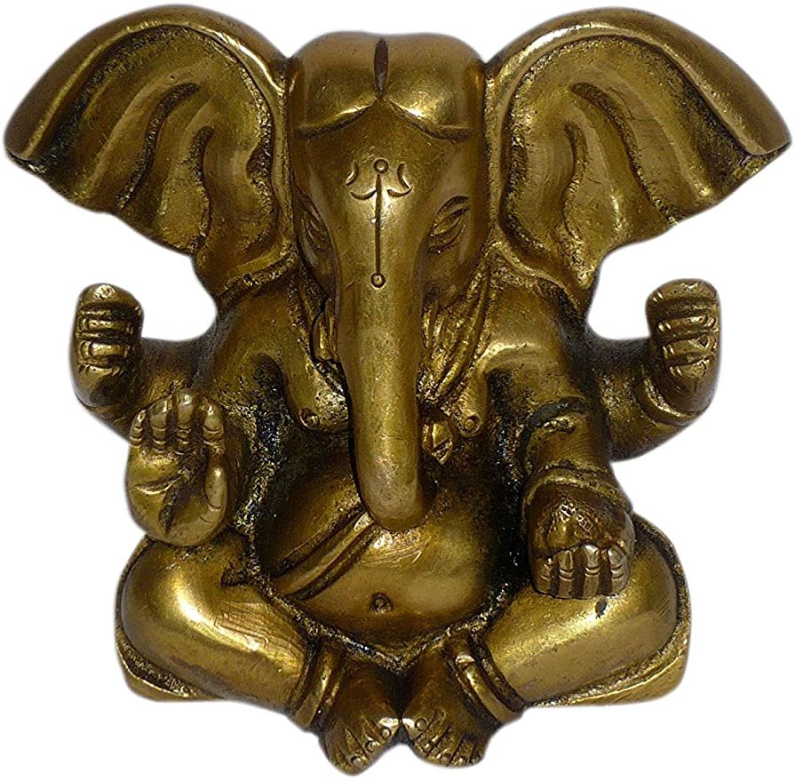 Ganesh W/Big Ears Brass Statue