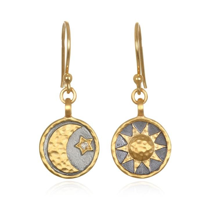 Celestial Sun Moon Star Earring