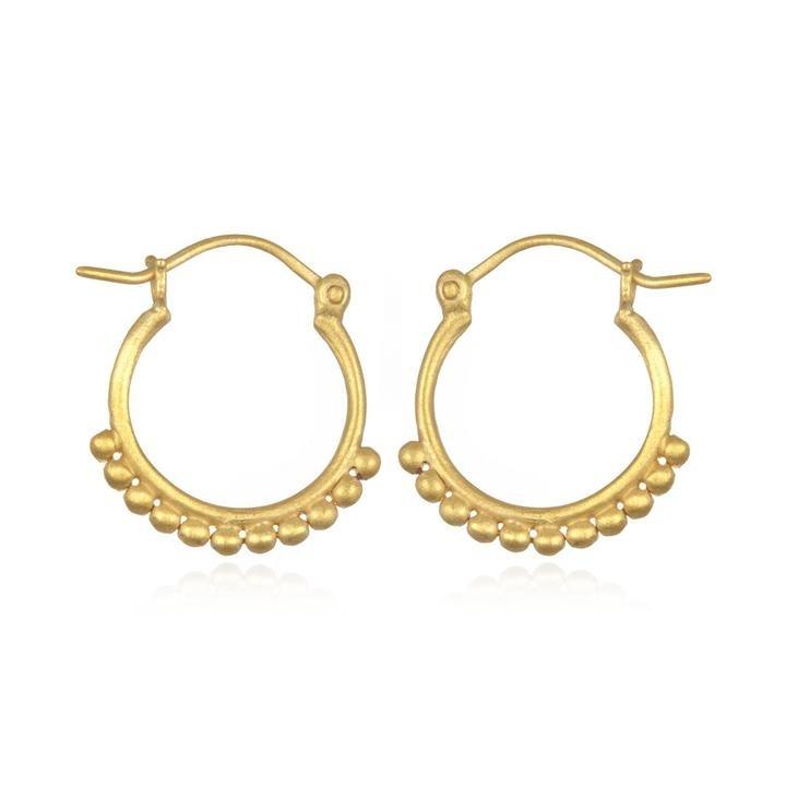 Small Dot Gold Earring