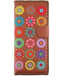 Large Spring Embroidered Wallet