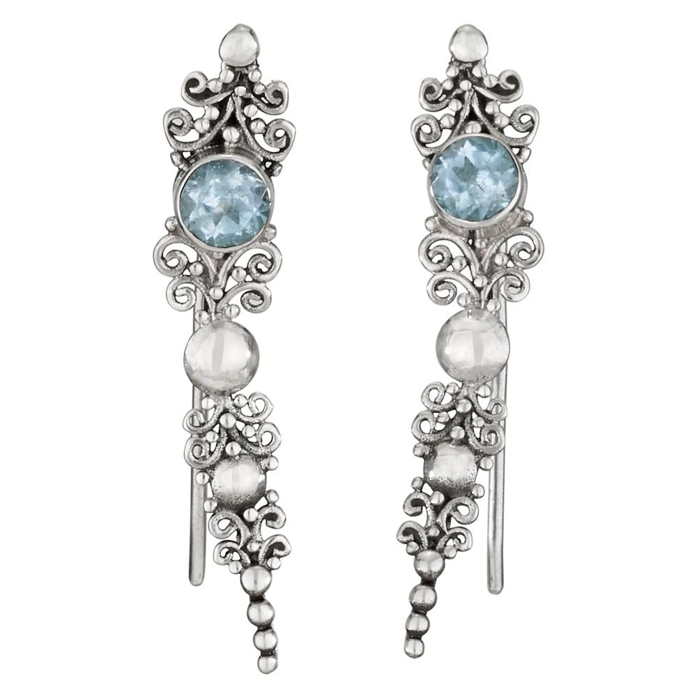 Blue Topaz & Pearl