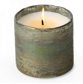 Artisan Blown Glass Tumbler Candle