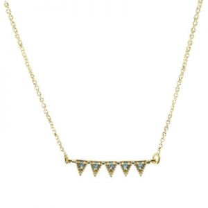 Jagged Vermeil Spiked Necklace Ni1413