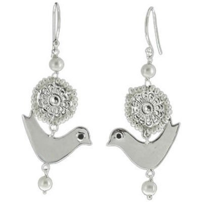 Flying Fantasia Pearl Bird Earring