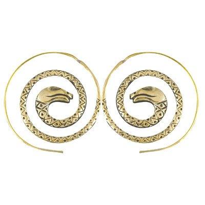 Cobra Brass Hoop Snake Spiral