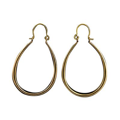 Janelle Medium Oval Brass Hoop