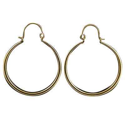 ALICIA LG SIMPLE TAPERED BRASS HOOP