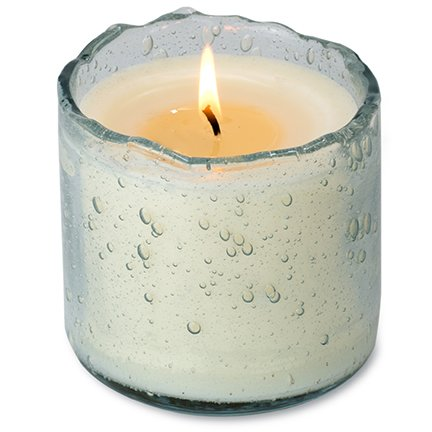 Artisan Blown Glass Tumbler Candle
