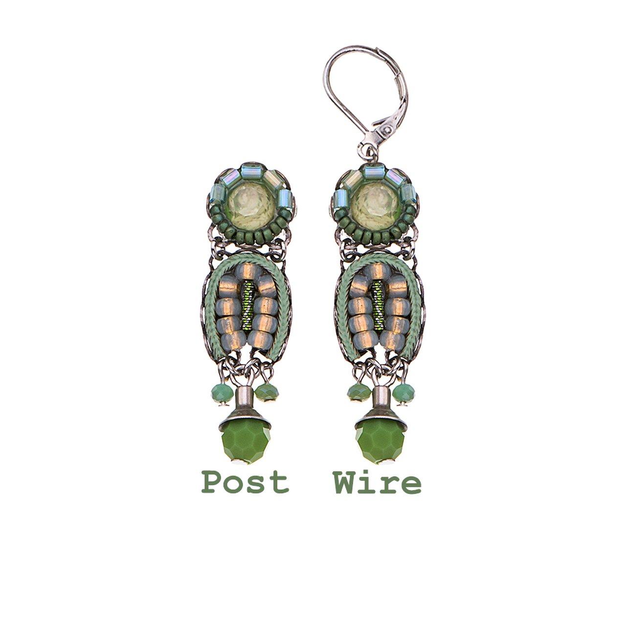 Green Moonlight Earrings