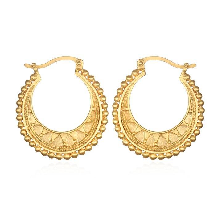 Gold Mandala Hoops
