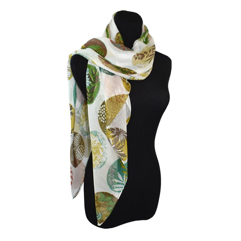 Devon Mixed Floral Circle Scarf