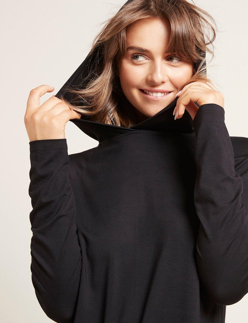 Women's Long Slv Hooded T-shirt