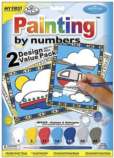 My First Paint By Number Kit 8.75X11.375 2/Pkg-Airplane & Helicopter