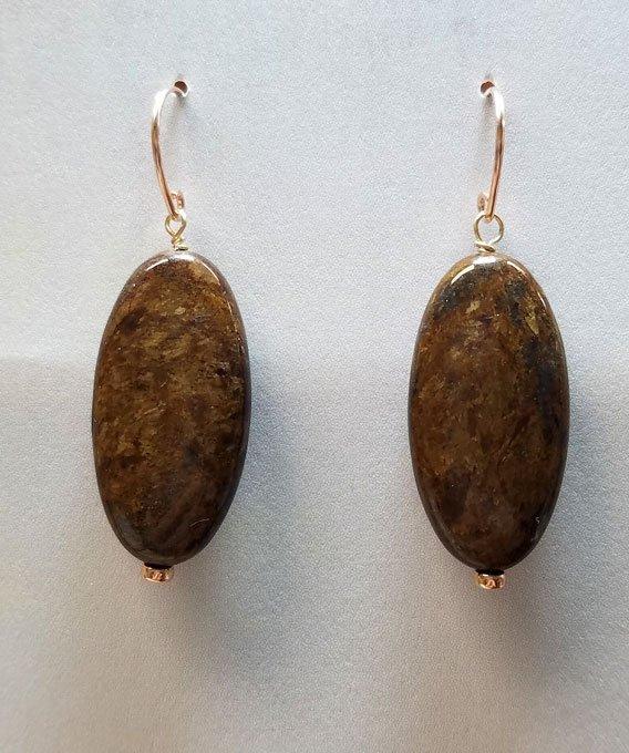 Chrysanthemum Stone Rose Gold Earrings