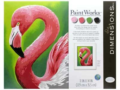 Paint Works Paint By Number Kit 11X14-Flamingo Fun