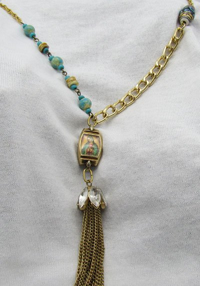 Our Lady of Guadalupe Vintage Watch Necklace
