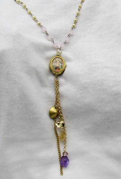 Our Lady of Guadalupe Vintage Watch Face Necklace 4