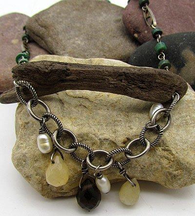 Driftwood & Malachite Necklace