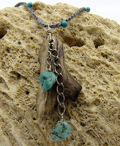 Driftwood & Turquoise Necklace 2