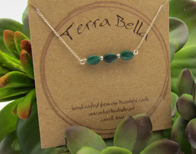 Malacite Sterling Silver Necklace
