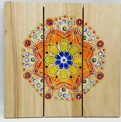 Mandala Wood Board Paint Art to Go Kit