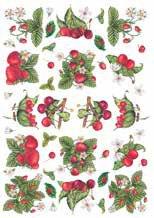 Calambour Strawberry & Cherries Rice Paper Decoupage PAU16