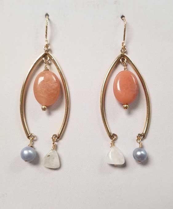 Pink Aventurine Earrings