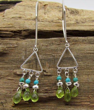 Peridot & Turquoise Earrings