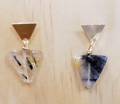 Black Routilated Quartz Earrings