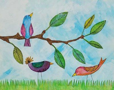 Spring Birds Art Kit to Go