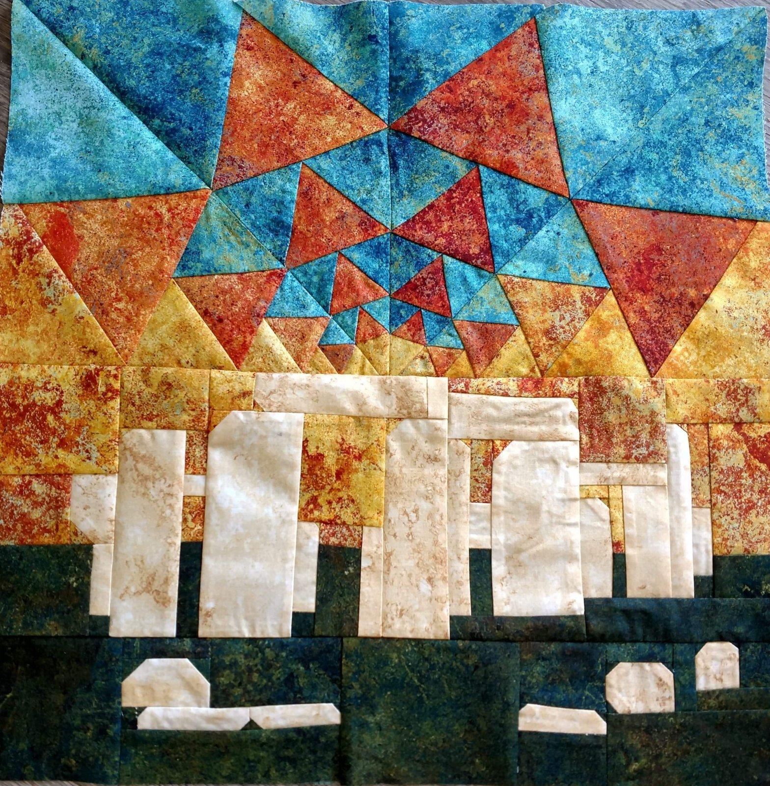 Stonehenge block party quilt block kit