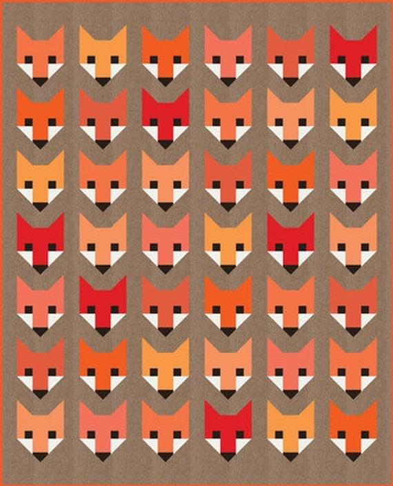 Fancy Fox Quilt Kit - Elizabeth Hartman