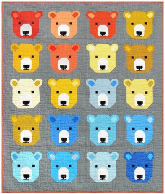Bjorn Bear Quilt Kit - Elizabeth Hartman