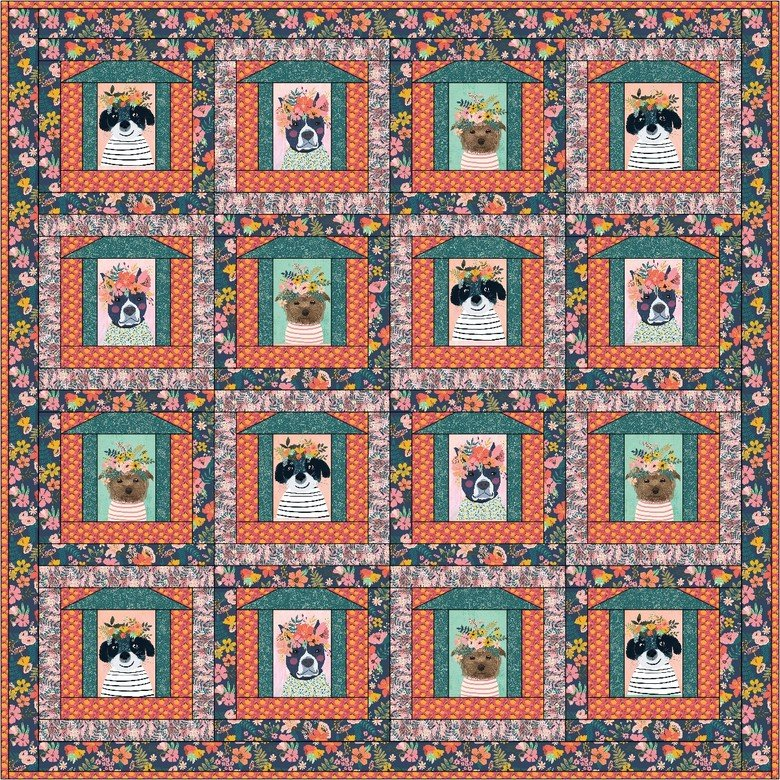 In the Doghouse Quilt Kit and Pattern