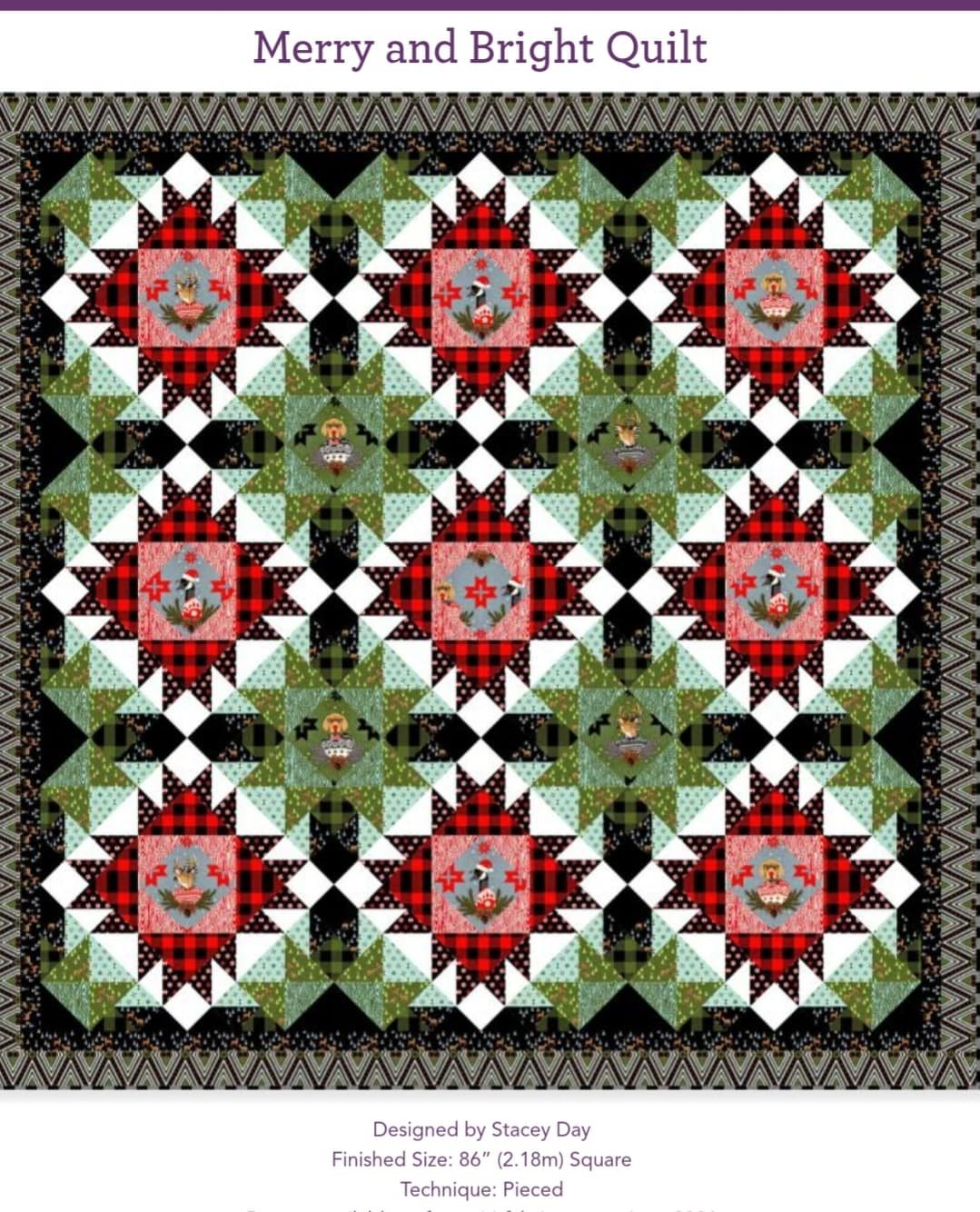 Holiday Homies Merry and Bright Flannel Quilt Kit
