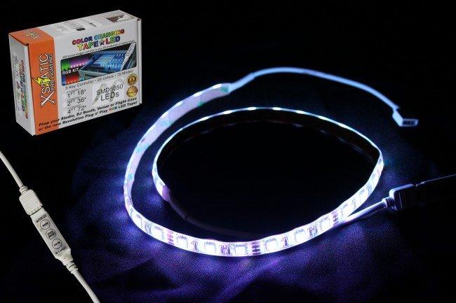 24 RGB LED Strip Kit W/Remote Control & Power Supply
